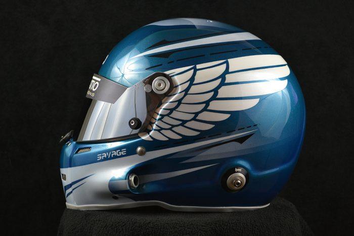 Custom painted Stilo ST5 GT with eagle wings. Custom helmet painting by Veneratio Designs