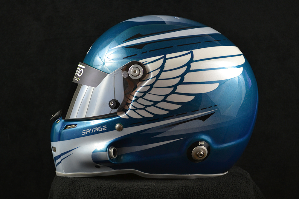 Custom painted Stilo ST5 GT with eagle wings. Custom helmet painting by Veneratio Designs