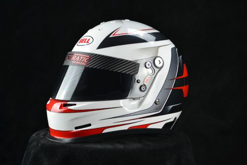 Custom painted Bell GP2. Custom painting racing helmets by Veneratio Designs in Daytona Beach, Florida.
