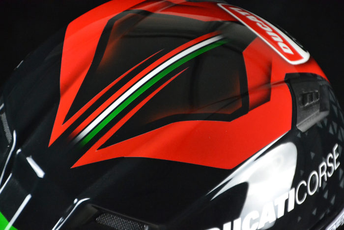 Custom Painted Bell Qualifier Ducati Corse | Custom Helmet Painting by Veneratio Designs