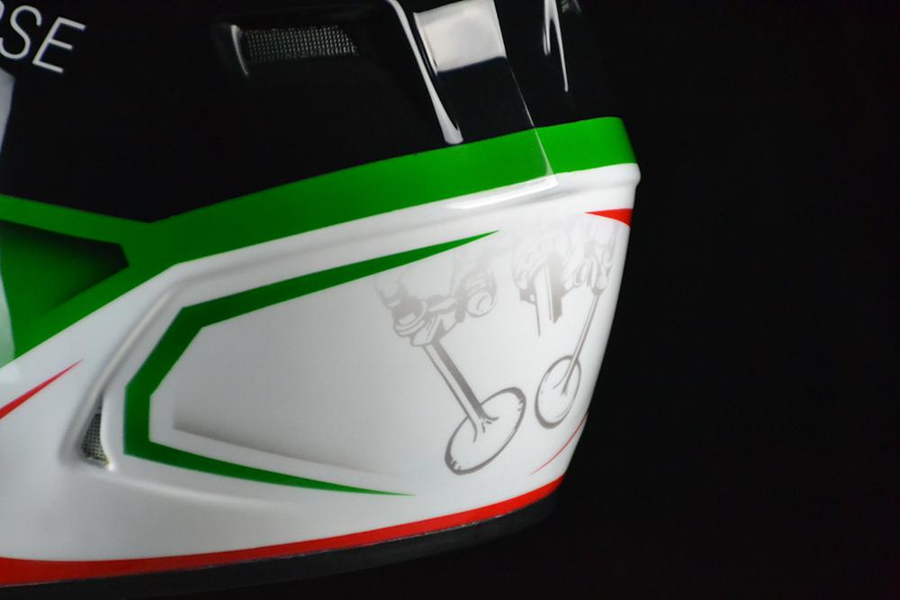 Custom Painted Bell Qualifier Ducati Corse | Custom Helmet Painting by Veneratio Designs