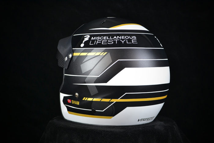 Custom painted Pyrotect open face rally helmet. Custom helmet painting by Veneratio Designs.