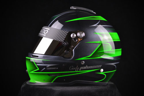 Custom Painted Zamp RZ-42 | Custom Helmet Painting by Veneratio Designs