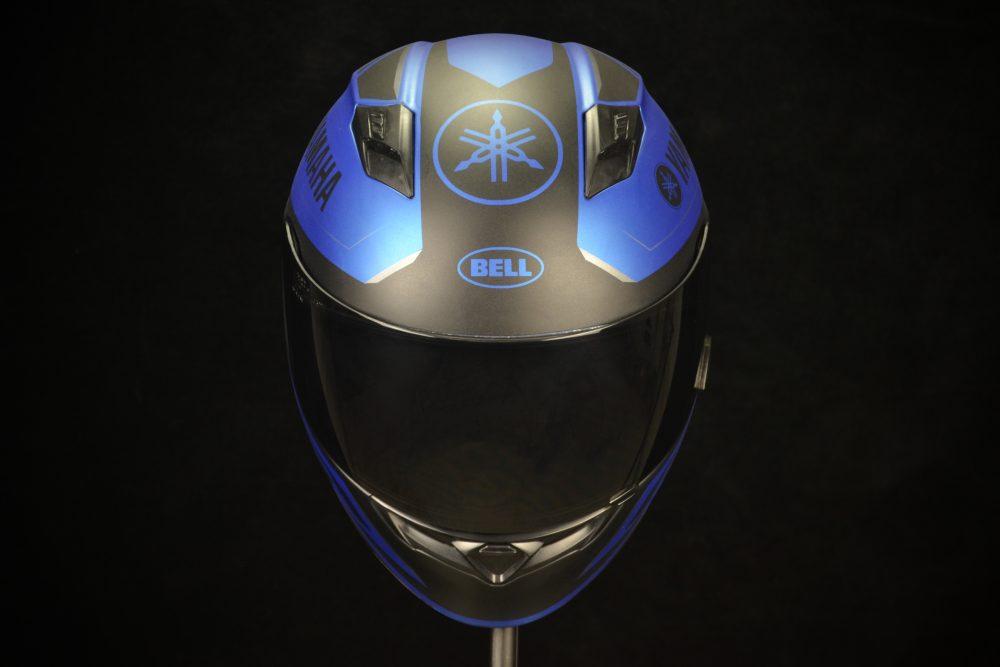 Custom racing helmet painting by Veneratio Designs