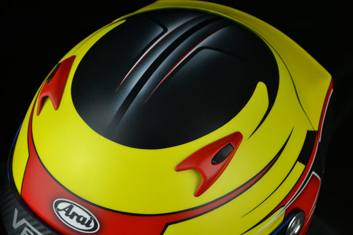 Custom helmet painting and design by Veneratio Designs