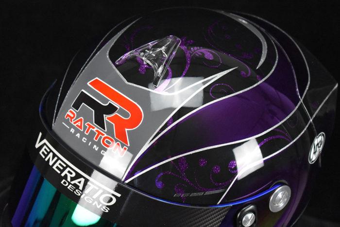 Custom Painted Chrome Arai GP-6 by Veneratio Designs