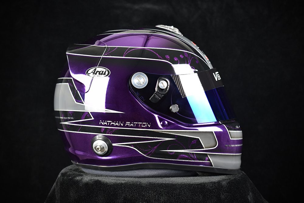 Custom Painted Chrome Arai GP-6 by Veneratio Designs