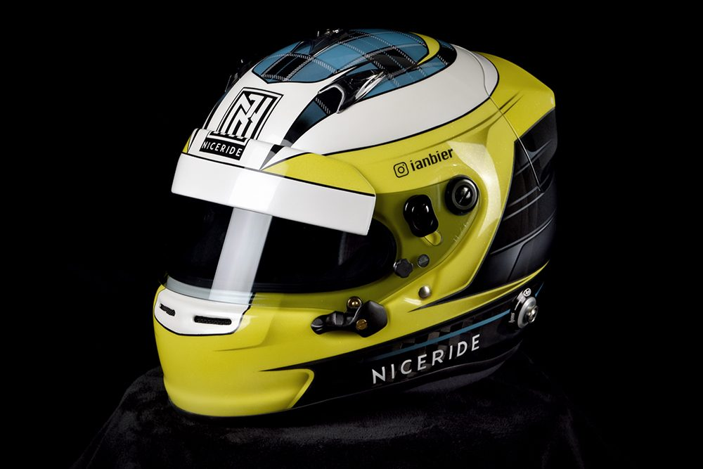 Arai gp-6 custom painted racing helmet by veneratio designs