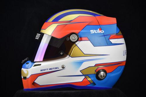 Custom racing helmets by Veneratio Designs. Custom painted Stilo ST5