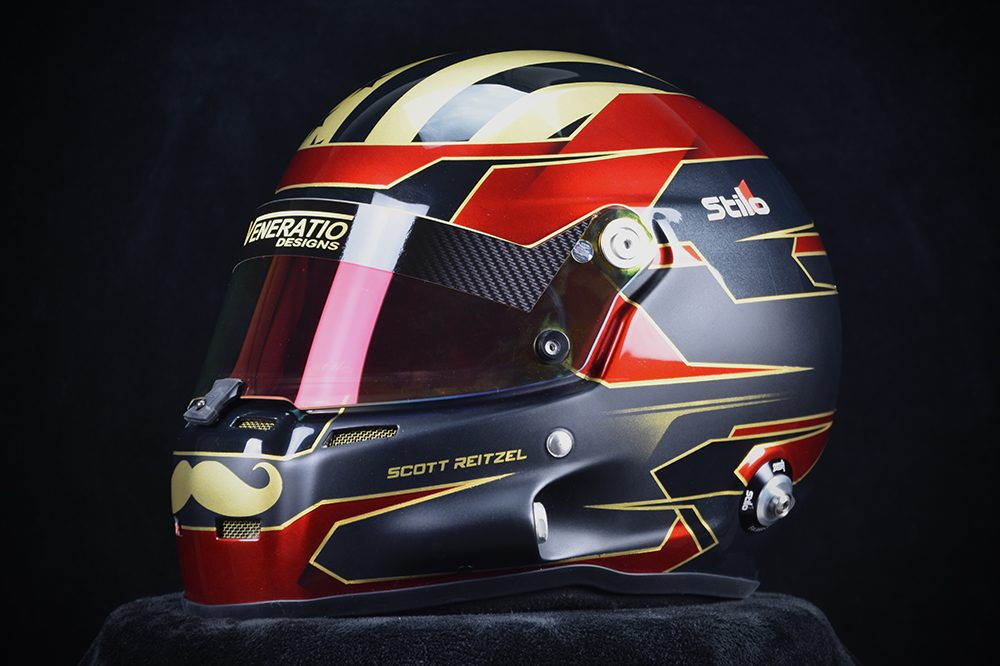Custom painted racing helmets. ST5 GT painted by Veneratio Designs