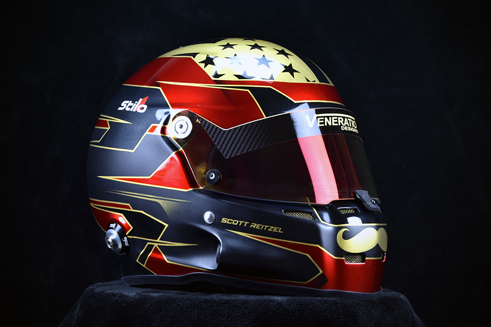 Custom painted racing helmets. ST5 GT painted by Veneratio Designs