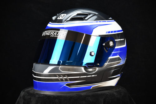 Custom painted HJC AR-10 Helmet. Custom racing helmets by Veneratio Designs in Daytona Beach, Florida.