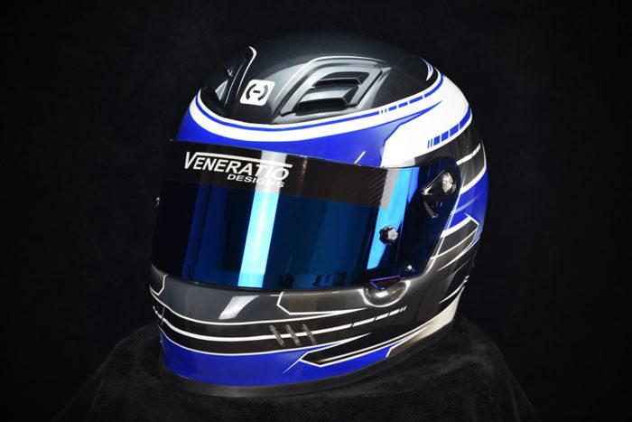 Custom painted HJC AR-10 Helmet. Custom racing helmets by Veneratio Designs in Daytona Beach, Florida.