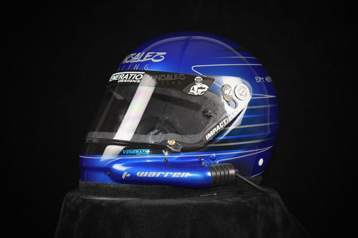 Custom painted Impact racing helmet by Veneratio Designs