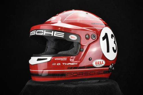 Custom Painted Bell GT5 Touring. Custom racing helmets by Veneratio Designs.