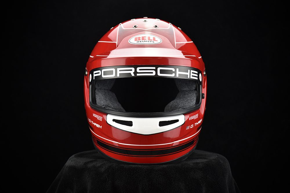 Porsche Racing Helmet Carmine Red Veneratio Designs