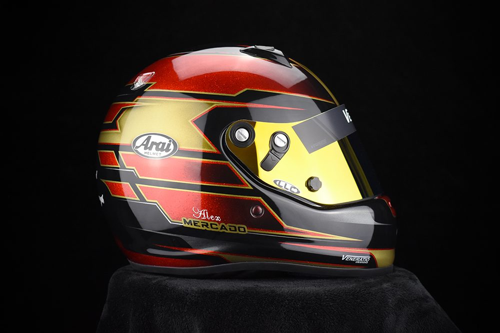 Custom Painted Racing Helmets by Veneratio Designs
