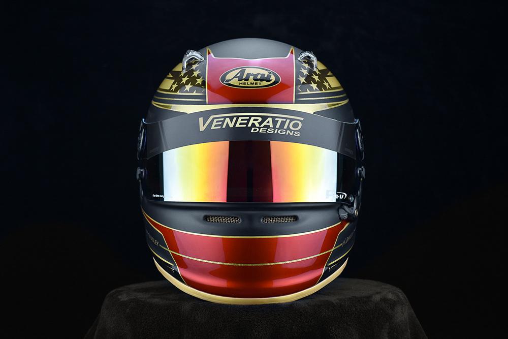 Custom painted racing helmets, Matte Black, candy red, pearl gold, FM-V Visor