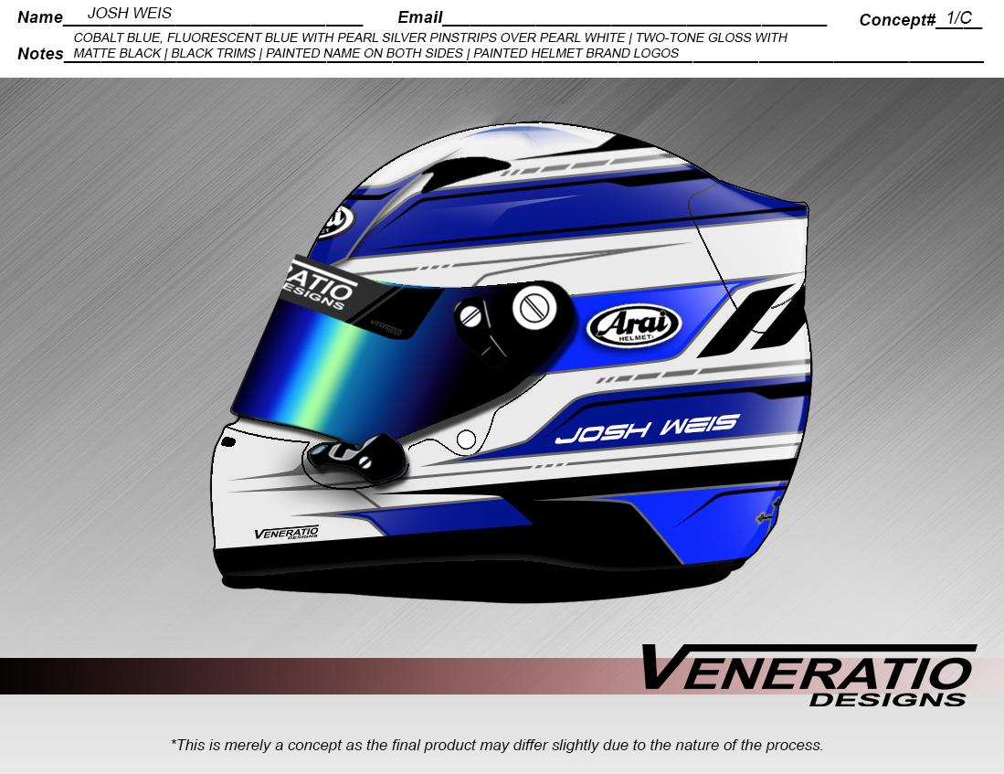 Custom Racing Helmet Paint and Design
