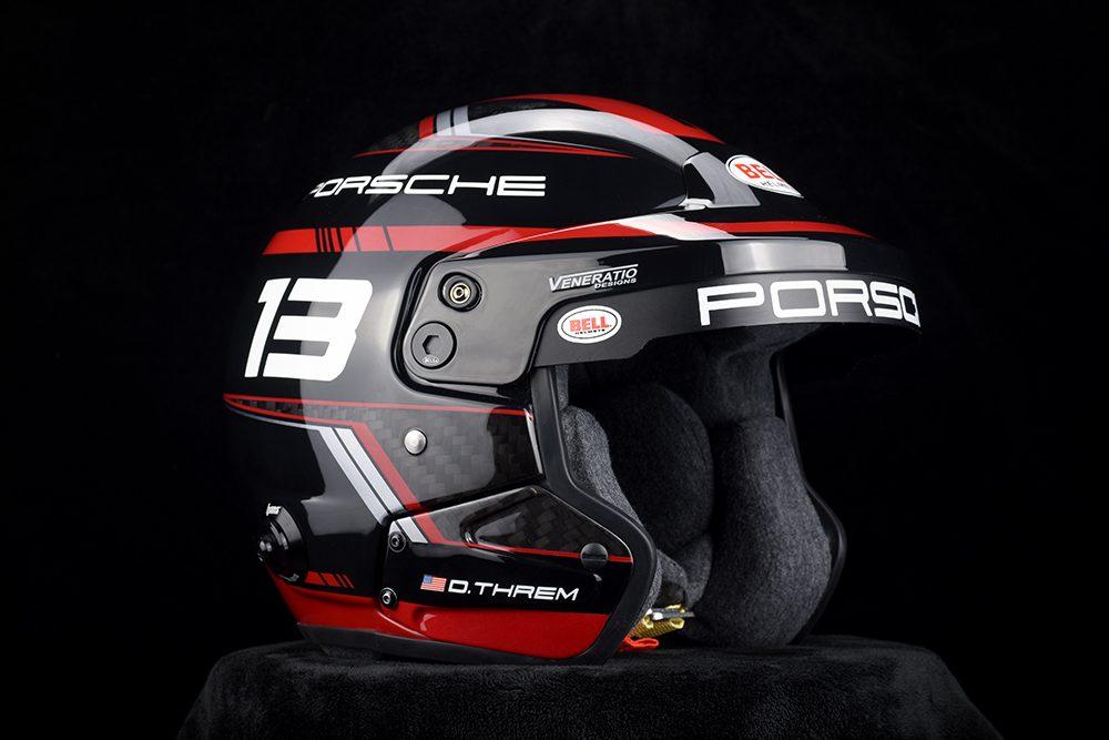 Custom Painted Bell MAG-9 Porsche Racing Helmet by Veneratio Designs
