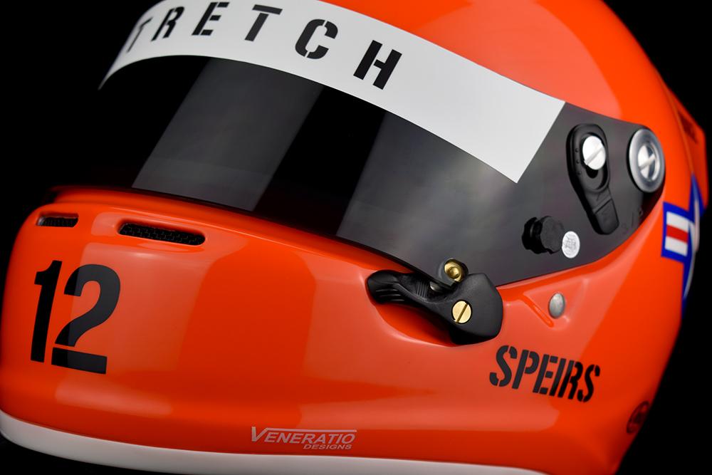 Custom painted Arai SK-6 racing helmet by Veneratio Designs