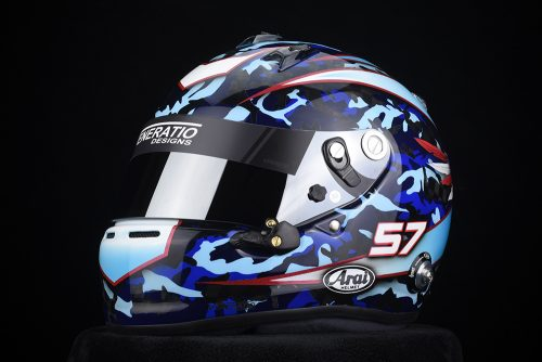 Arai GP-6RC with Blue Camo