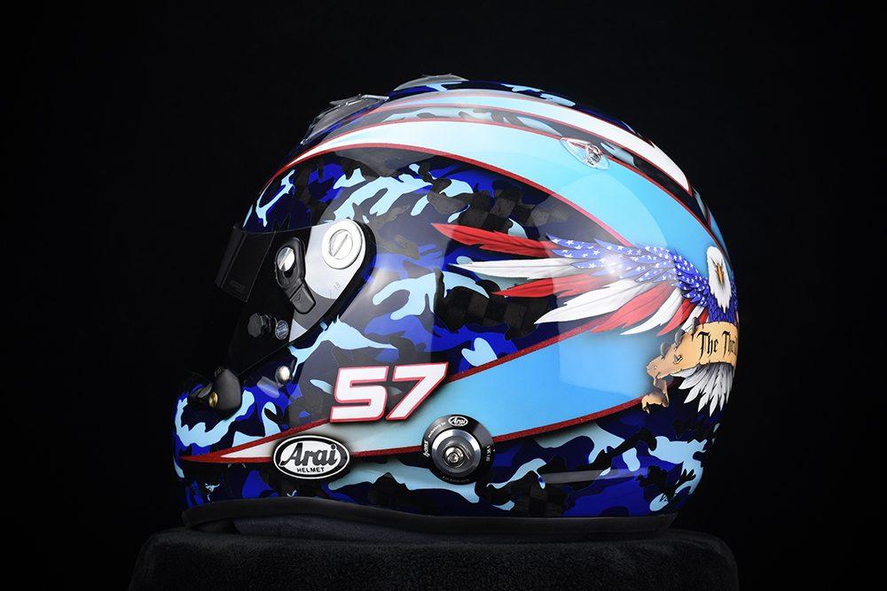 Custom Painted Arai GP-6RC Racing Helmet for Bill Hynes
