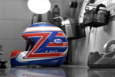 Custom Painted Arai CK-6 Racing Helmet by Veneratio Designs