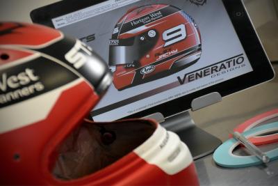 Custom Paint Arai SK-6 Racing Helmet by Veneratio Designs