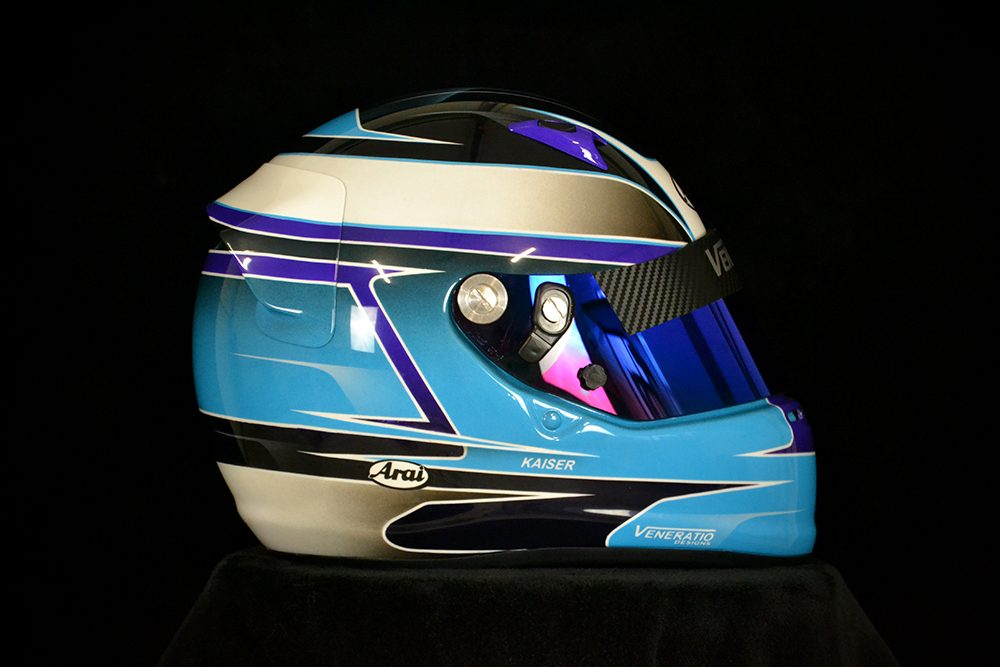 Custom Painted Arai SK-6 Racing Helmet by Veneratio Designs