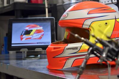 Custom Painted Bell GP2 Racing Helmet by Veneratio Designs