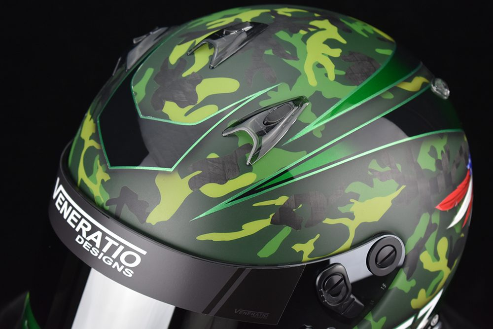 Custom Painted Arai GP-6RC Racing Helmet