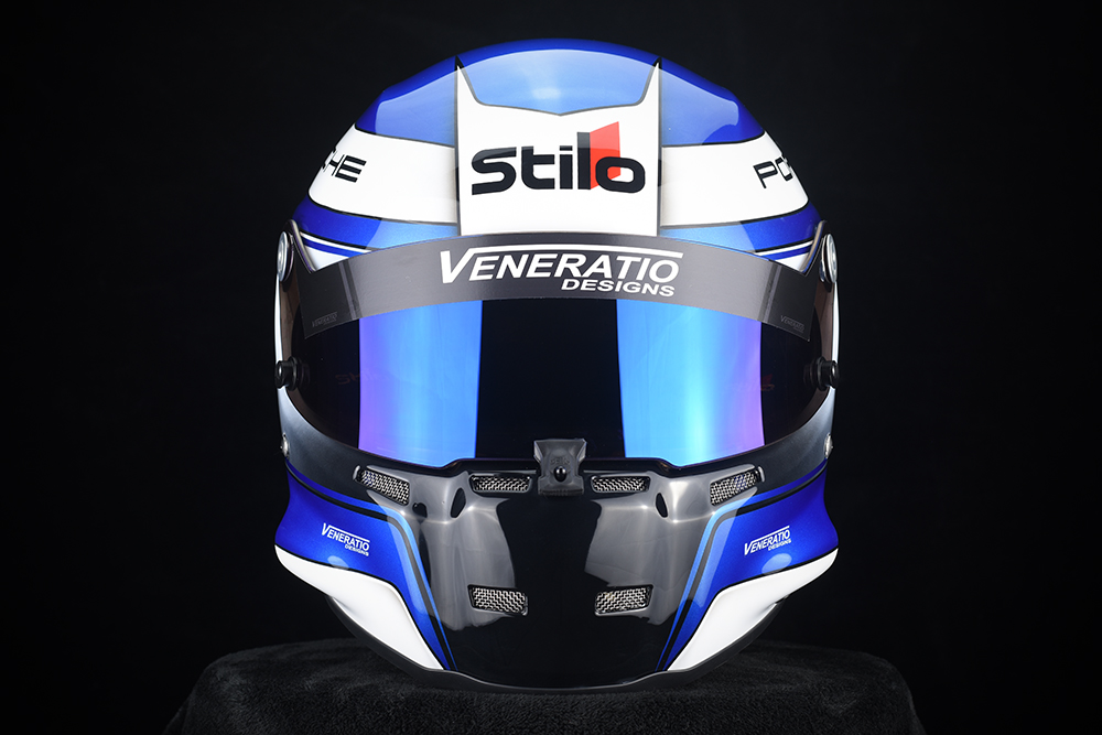 Custom Painted Stilo ST5 Racing Helmet by Veneratio Designs