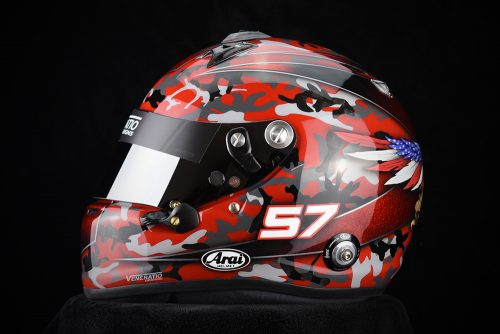 Custom Painted Arai GP-6RC Racing Helmet for Bill Hynes