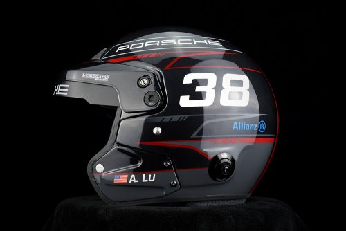 Custom Painted Bell Mag-9 Porsche Racing Helmet by Veneratio Designs