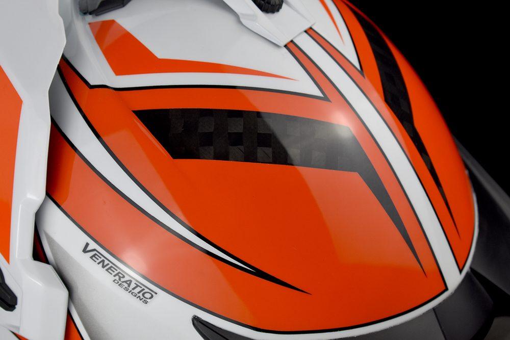 Custom Painted Krios KTM Adventure Helmet by Veneratio Designs
