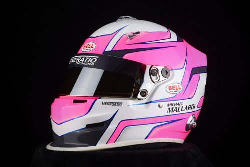 Custom Painted Bell GP3 Racing Helmet by Veneratio Designs