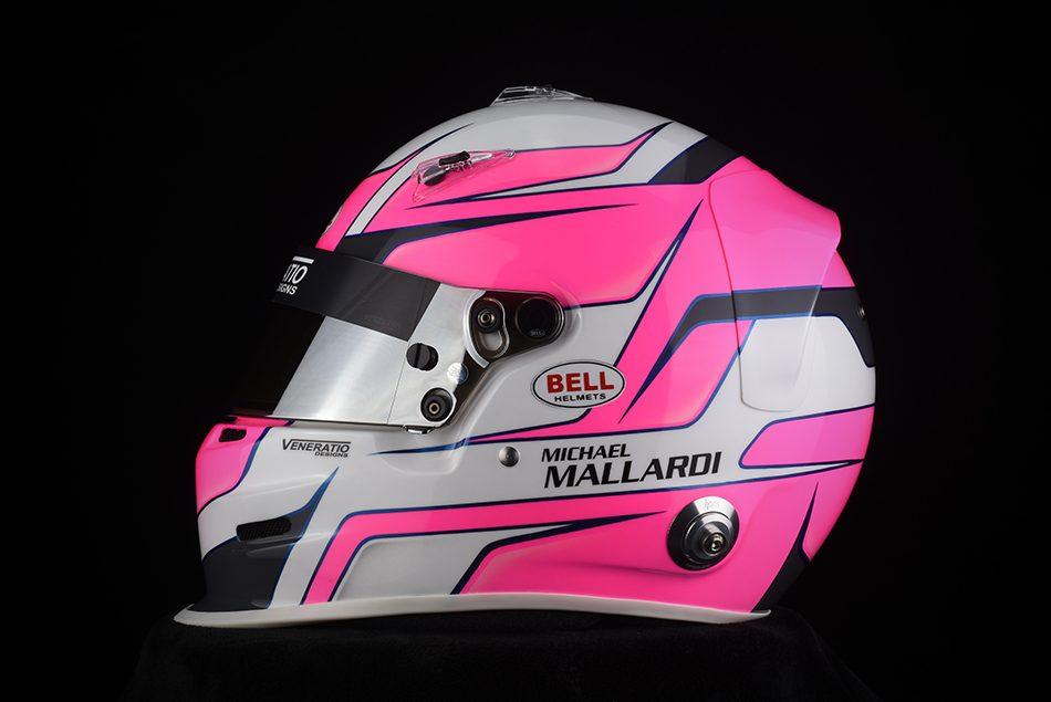 Custom Painted Bell GP3 Racing Helmet by Veneratio Designs