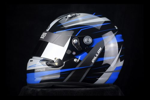 Custom Painted Arai SK-6 Karting Helmet by Veneratio Designs