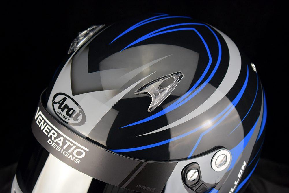Custom Painted Arai SK-6 Karting Helmet by Veneratio Designs