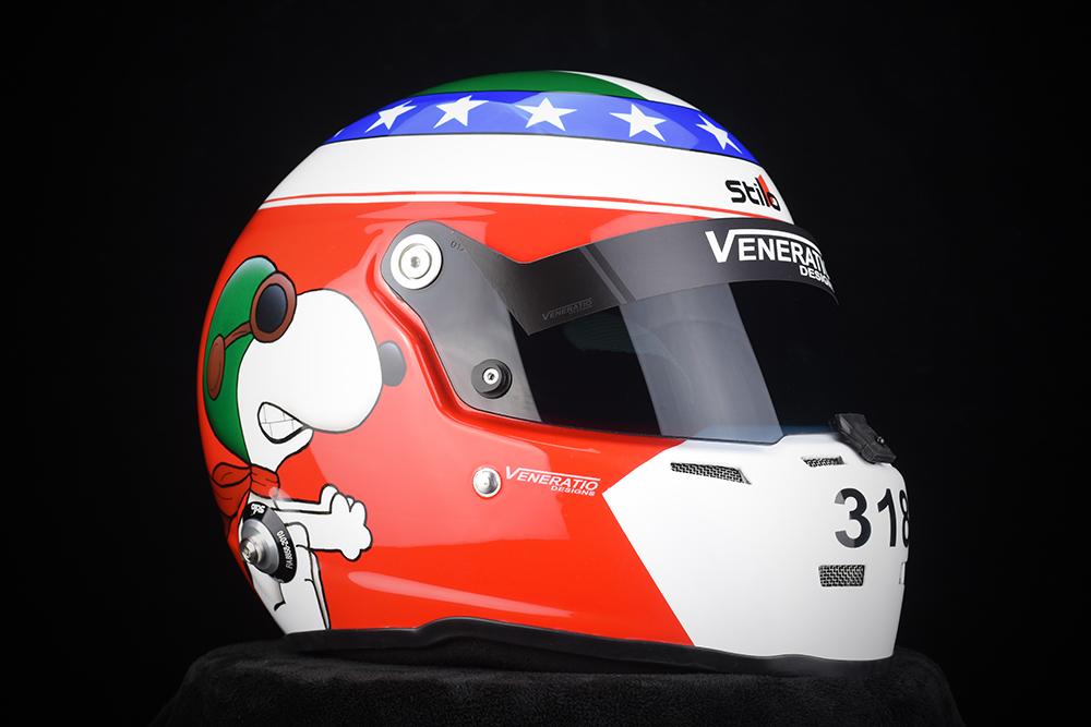 Custom Painted Stilo ST5 Racing Helmet by Veneratio Designs
