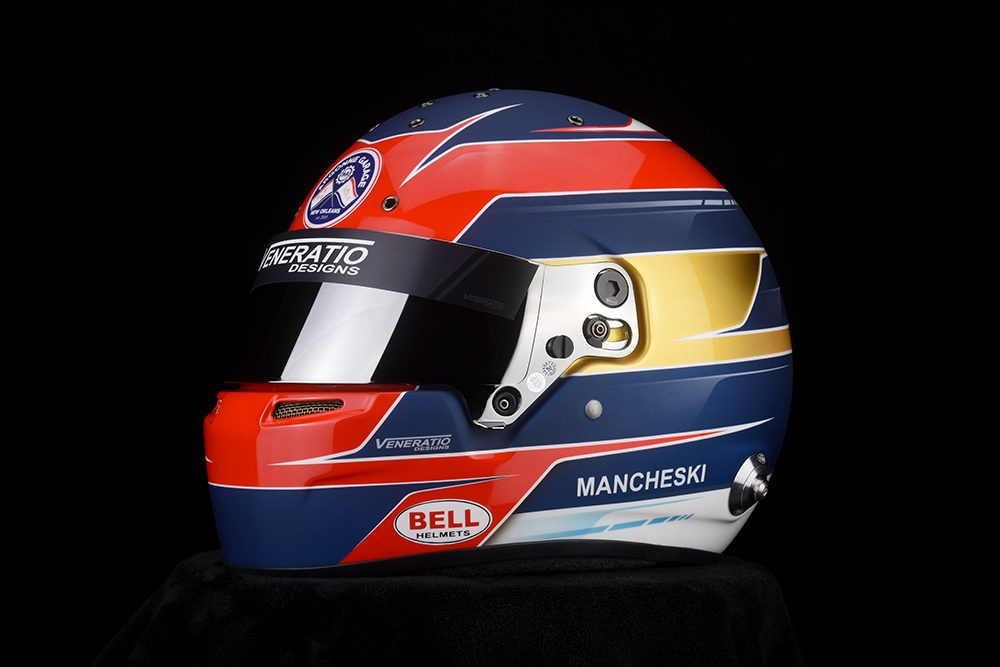 Custom Painted Bell RS7 Racing Helmet by Veneratio Designs