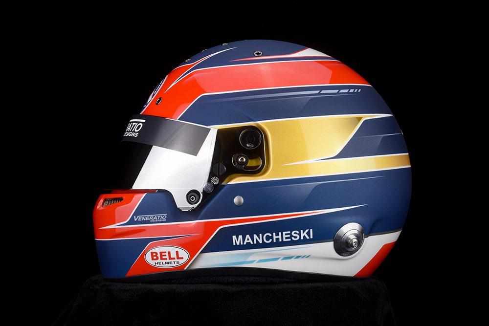 Custom Painted Bell RS7 Racing Helmet by Veneratio Designs