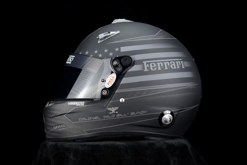 Custom Painted Bell M8 Racing Helmet