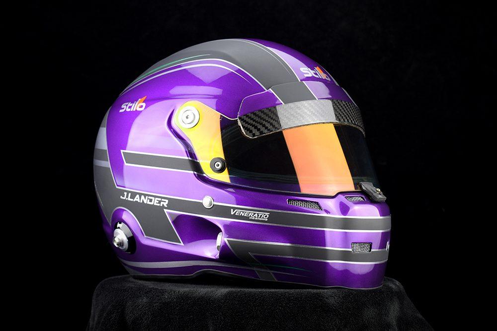 Custom Painted Stilo GT Zero Racing Helmet