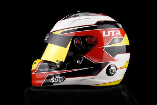 Custom Painted Arai GP-6 Racing Helmet