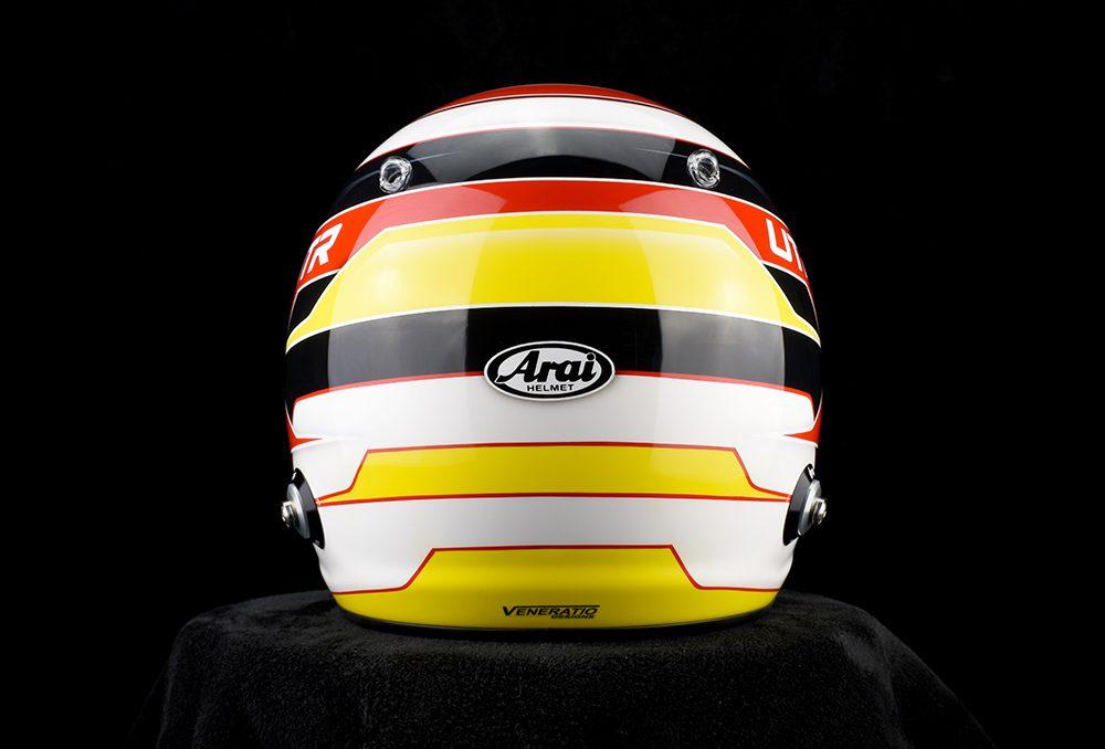 Custom Painted Arai GP-6 Racing Helmet