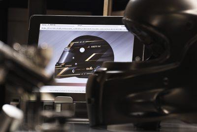 Custom painting racing helmet