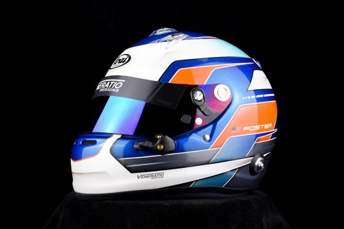 Custom Painted Arai GP-6S by Veneratio Designs