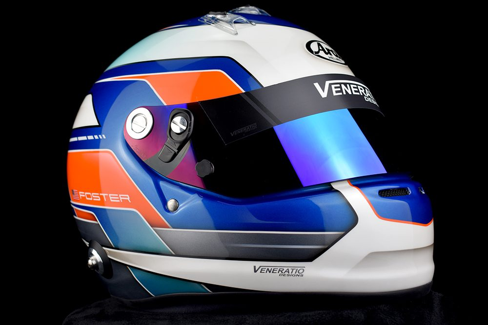 Custom Painted Arai GP-6S by Veneratio Designs